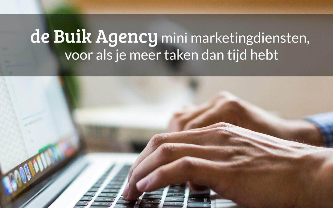 Mini diensten de Buik Agency